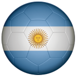 Argentina Football Flag 25mm Flat Back